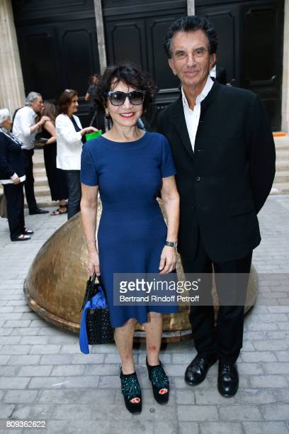 Jack lang and his wife Monique attend the Azzedine Alaia Fashion Show as part of Haute Couture Paris Fashion Week Held at Azzedine Alaia Gallery on...