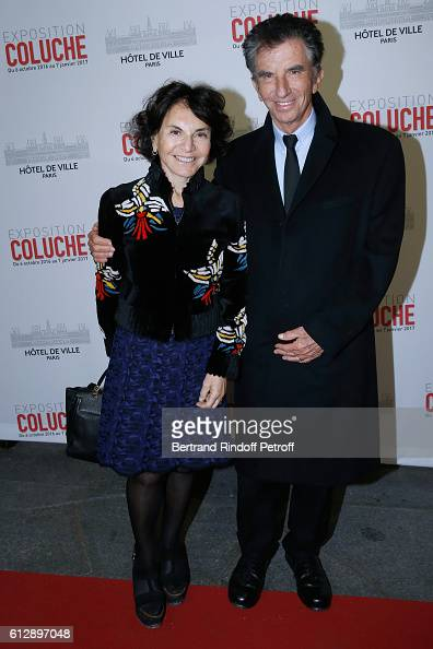 Jack Lang and his wife Monique attend the Coluche Exhibition Opening This exhibition is organized for the 30 years of the disappearance of Coluche...