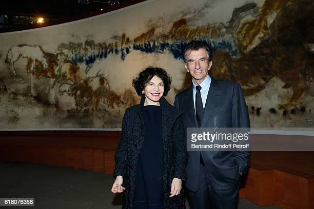Jack Lang and his wife Monique attend the Japenese Artist Takeshi Kitano receives the French Legion of Honor By Jack Lang at Fondation Cartier on...