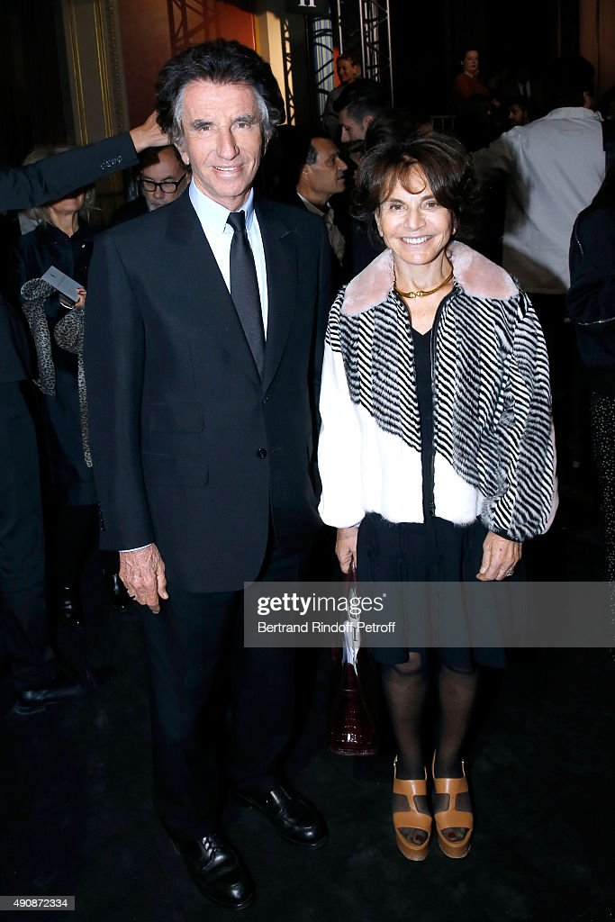 Jack Lang and his wife Monique attend the Lanvin show as part of the Paris Fashion Week Womenswear Spring/Summer 2016 on October 1, 2015 in Paris, France.