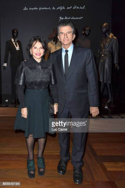 Jack Lang and his wife Monique attend the Opening Party at Yves Saint Laurent Museum as part of the Paris Fashion Week Womenswear Spring/Summer 2018...