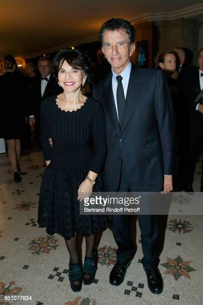 Jack lang and his wife Monique attend the Opening Season Gala Ballet of Opera National de Paris Held at Opera Garnier on September 21 2017 in Paris...
