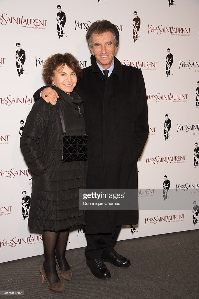 <a gi-track='captionPersonalityLinkClicked' href=/galleries/search?phrase=Jack+Lang&family=editorial&specificpeople=220296 ng-click='$event.stopPropagation()'>Jack Lang</a> and his wife Monique attends the 'Yves Saint Laurent' Paris Premiere at Cinema UGC Normandie on December 19, 2013 in Paris, France.