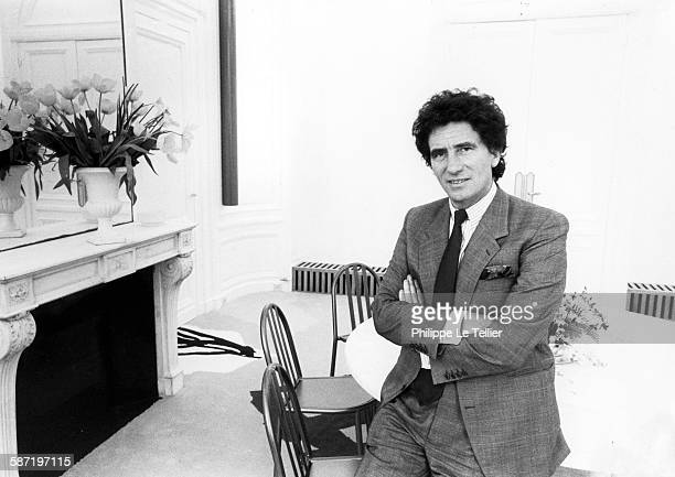 Jack Lang Minister of Culture in his office of the Ministry of Culture in Paris France