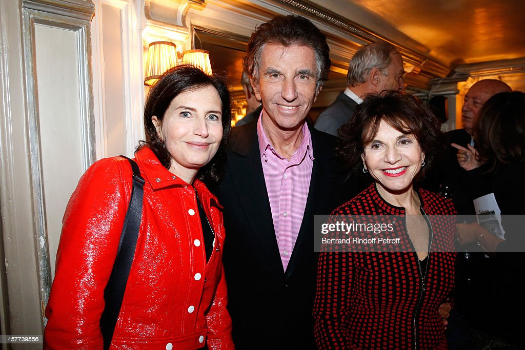 Jack Lang standing between his wife Monique and their daughter Caroline attend the Monnaie De Paris : Reopening Party with Opening of the McCarthy Exhibition - Dinner at Restaurant Laperouse, on October 23, 2014 in Paris, France.