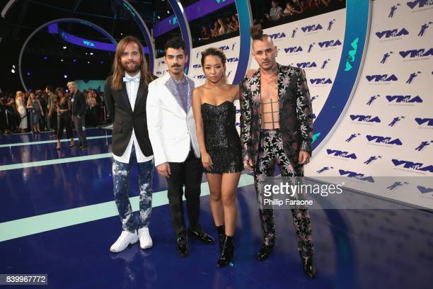 Jack Lawless Joe Jonas JinJoo Lee and Cole Whittle of music group DNCE attend the 2017 MTV Video Music Awards at The Forum on August 27 2017 in...