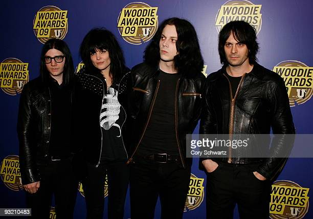 Jack Lawrence Alison Mosshart Jack White and Dean Fertita of Dead Weather attend the 2009 mtvU Woodie Awards at the Roseland Ballroom on November 18...