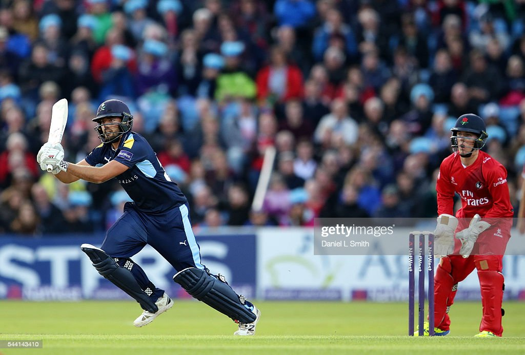 Jack Leaning of Yorkshire Vikings bats during the NatWest T20 Blast match between Yorkshire Vikings and Lancashire Lightning at Headingley on July 1, 2016 in Leeds, England.