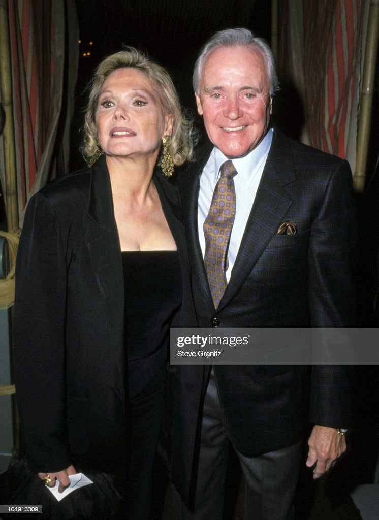 Jack Lemmon & wife Felicia Farr during New Yorker-Tina Brown All Movie Issue Party at Bel-Air Hotel in Bel-Air, California, United States.