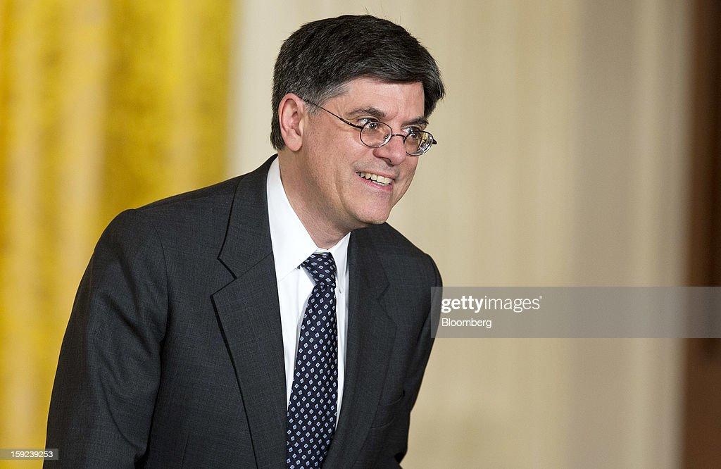Jack Lew, White House chief of staff, arrives for the announcement of the Secretary of Defense and director of the Central Intelligence Agency nominations in the East Room of the White House in Washington, D.C., U.S., on Monday, Jan. 7, 2013. Timothy F. Geithner's replacement by Jack Lew as Treasury secretary will end a period of unusually strong ties between the department and the Federal Reserve. Photographer: Joshua Roberts/Bloomberg via Getty Images