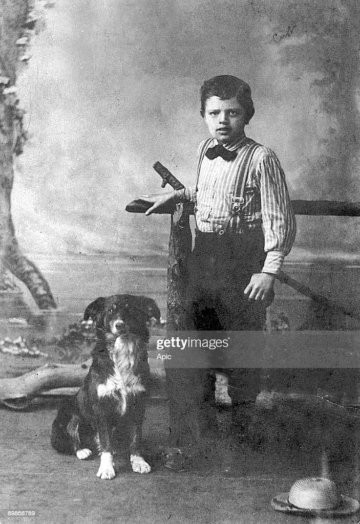 Jack London and his dog Rollo Nine years old 1885