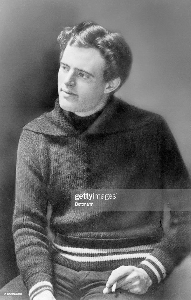 Jack London author of The Call of the Wild and many other works is shown in his young manhood