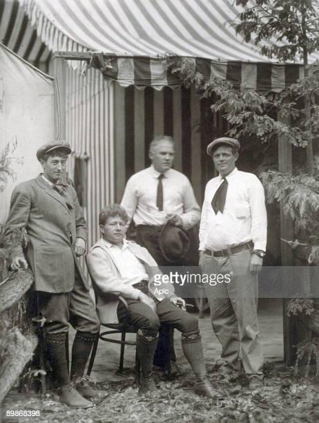 Jack London with George Sterling James Hopper Harry Leon Wilson Bohemian Grove 1913