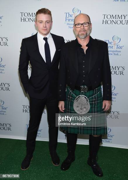 Jack Lowden and director Jason Connery attend 'Tommy's Honour' New York Screening at AMC Loews Lincoln Square 13 theater on April 12 2017 in New York...