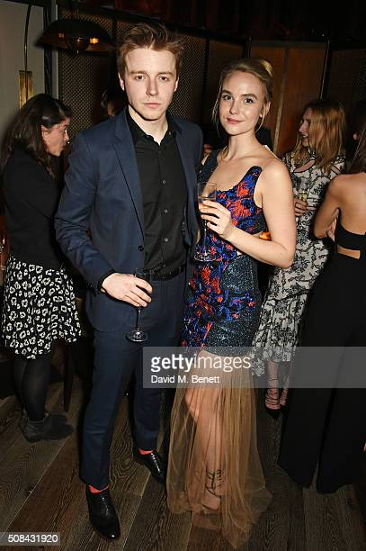 Jack Lowden and Joanna Vanderham attend the InStyle EE Rising Star party ahead of the EE BAFTA Awards at 100 Wardour St on February 4 2016 in London...
