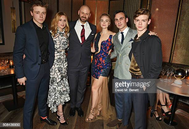 Jack Lowden Laura Carmichael guest Joanna Vanderham Henry Lloyd Hughes and Thomas BrodieSangster attend the InStyle EE Rising Star party ahead of the...