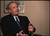 Jack M Greenberg chairman and chief executive officer of McDonald's participates in an interview in Oak Brook Illinois