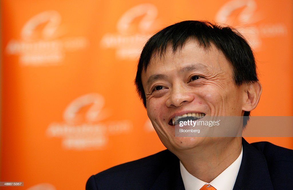 <a gi-track='captionPersonalityLinkClicked' href=/galleries/search?phrase=Jack+Ma&family=editorial&specificpeople=2110288 ng-click='$event.stopPropagation()'>Jack Ma</a>, chairman and then-chief executive officer of Alibaba Group Holding Ltd., laughs at a news conference in Hong Kong, China, on Tuesday, Nov. 6, 2007. Alibaba, which rode China's emergence as an economic superpower over the last 15 years to become a massive online marketplace for everything from forks to forklifts, filed today for what could become the largest U.S. initial public offering ever. Photographer: Daniel J. Groshong/Bloomberg via Getty Images