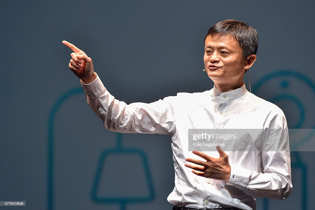 <a gi-track='captionPersonalityLinkClicked' href=/galleries/search?phrase=Jack+Ma&family=editorial&specificpeople=2110288 ng-click='$event.stopPropagation()'>Jack Ma</a>,CEO of the Alibaba Group speaks during the news conference on June 18, 2015 in Chiba, Japan. Softbank Corp. announced that its humanoid product, Pepper, developed by the company's Aldebaran Robotics unit, will be available for consumers at 198,000 yen on June 20, 2015. SoftBank Corp. also announced that Alibaba Group Holding Limited and Foxconn Technology Group reached an agreement that Alibaba and Foxconn will each invest 14.5 billion in SoftBank Robotics Holdings Corp., to promote Softbank's robotic business including Pepper to the global market.