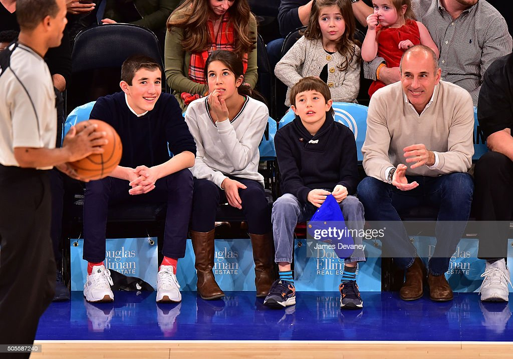 Celebrities Attend The Philadelphia 76ers Vs New York ...