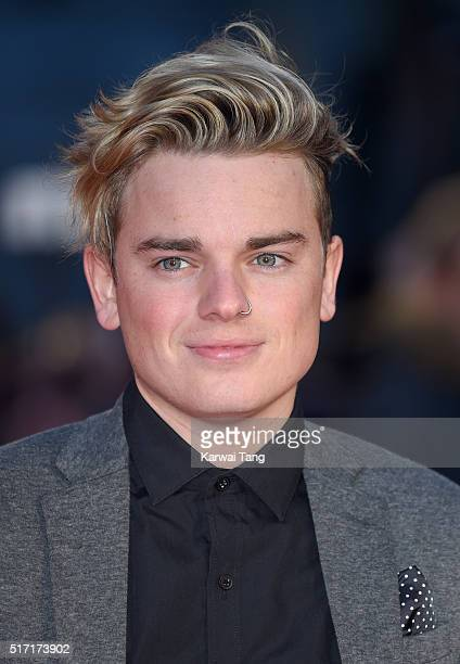 Jack Maynard arrives for the European Premiere of 'Batman V Superman Dawn Of Justice' at Odeon Leicester Square on March 22 2016 in London England