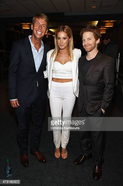 Jack McBrayer Ashley Tisdale and Seth Green attend the Turner Upfront 2015 at Madison Square Garden on May 13 2015 in New York City...
