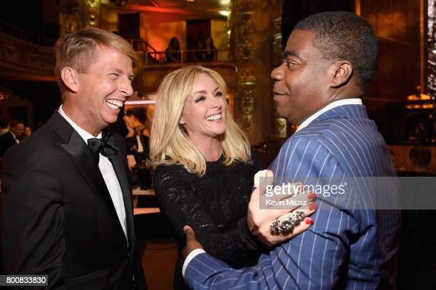 Jack McBrayer Jane Krakowski and Tracy Morgan attend Spike's 'Spike's One Night Only Alec Baldwin' at The Apollo Theater on June 25 2017 in New York...