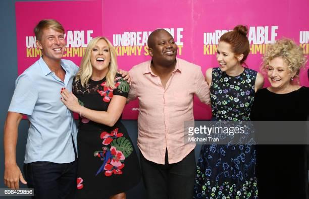 Jack McBrayer Jane Krakowski Tituss Burgess Ellie Kemper and Carol Kane attend Netflix's 'Unbreakable Kimmy Schmidt' FYC held at UCB Sunset Theater...