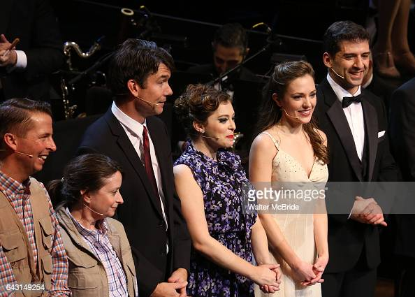 Jack McBrayer Rachel Dratch Jerry O'Connell Rachel Bloom Laura Osnes and Tony Yazbeck during the Manhattan Concert Productions 25th Anniversary...