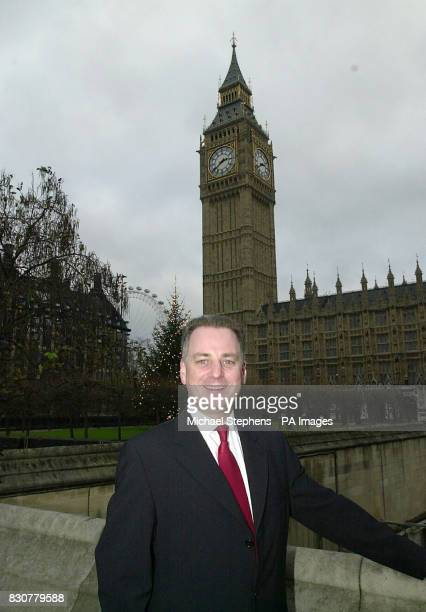 Jack McConnell Frist Minister of the Scottish Parliament outside the House of Parliament