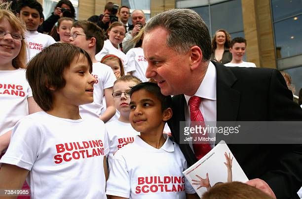 Jack McConnell Scotlands First Minister launches the Labour party Scottish election manifesto on April 10 2007 in Glasgow Scotland Mr McConnell put...