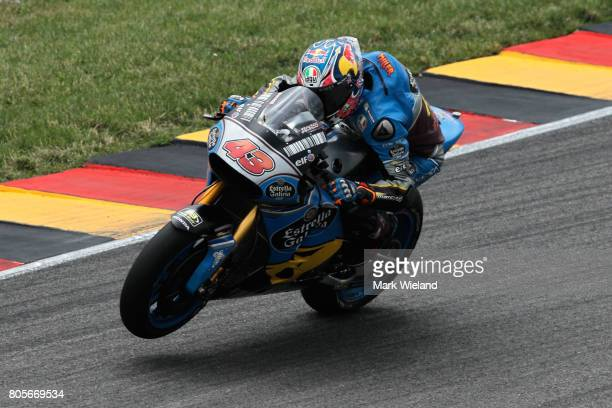 Jack Miller of Australia and EG 00 Marc VDS Team in action during the MotoGP of Germany at Sachsenring Circuit on July 2 2017 in HohensteinErnstthal...