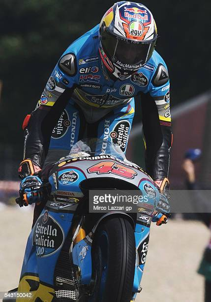 Jack Miller of Australia and Marc VDS Racing Team celebrates his first victory on the MotoGP race at the end of the MotoGP race during the MotoGP...