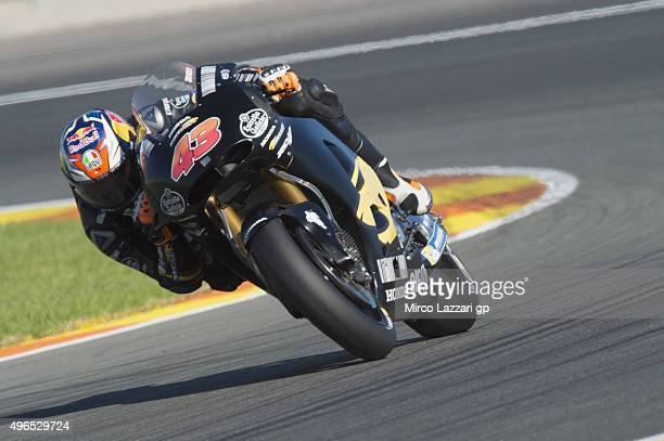 Jack Miller of Australia and Marc VDS Racing Team rounds the bend during the first day of MotoGp Tests In Valencia at Ricardo Tormo Circuit on...