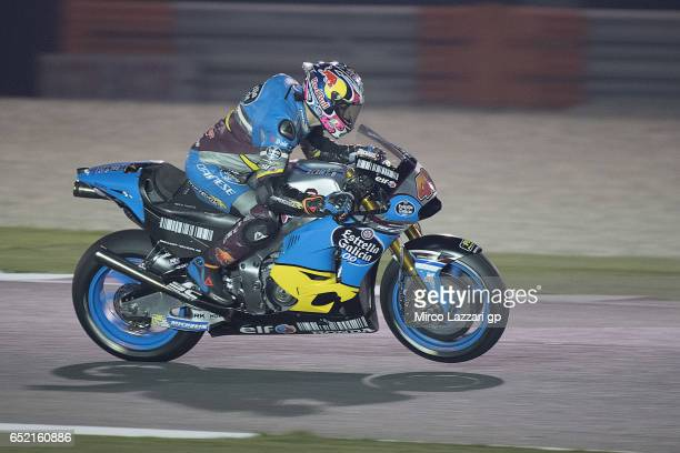 Jack Miller of Australia and Team EG 00 Marc VDS lifts the front wheel during the MotoGP Tests In Losail at Losail Circuit on March 11 2017 in Doha...
