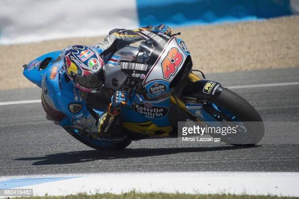 Jack Miller of Australia and Team EG 00 Marc VDS rounds the bend during the MotoGp Tests In Jerez at Circuito de Jerez on May 8 2017 in Jerez de la...