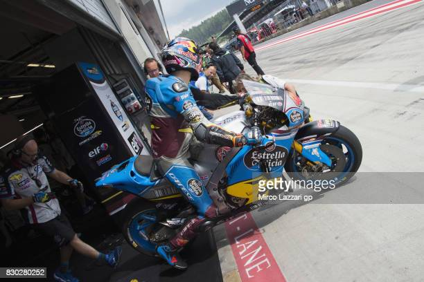 Jack Miller of Australia and Team EG 00 Marc VDS starts from box during the MotoGp of Austria Free Practice at Red Bull Ring on August 11 2017 in...