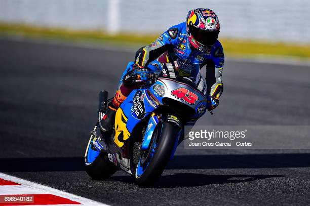 Jack Miller of EG 00 Marc VDS riding his bike during the Free Practice 3 Moto GP of Catalunya at Circuit de Catalunya on June 10 2017 in Montmelo...
