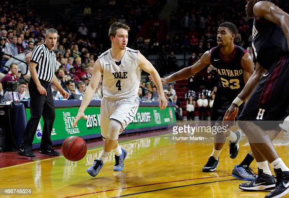 Jack Montague of the Yale Bulldogs during a game against the Harvard Crimson at the Palestra on the campus of the University of Pennsylvania on March...