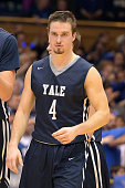 Jack Montague of the Yale Bulldogs looks on against the Duke Blue Devils at Cameron Indoor Stadium on November 25 2015 in Durham North Carolina Duke...