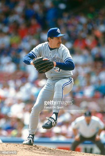 Jack Morris of the Toronto Blue Jays pitches during an Major League Baseball game circa 1992 Morris played for the Blue Jays from 199293