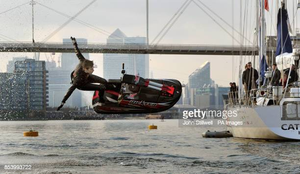 Jack Moule aged 18 the British national free style Jetski Champion at both amateur and professional level entertains the crowds with his tricks at...