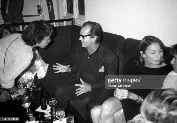 Jack Nicholson and Anjelica Huston at Dallas Boesendahl's party for Amadeus at Limelight Wednesday September 12 1984