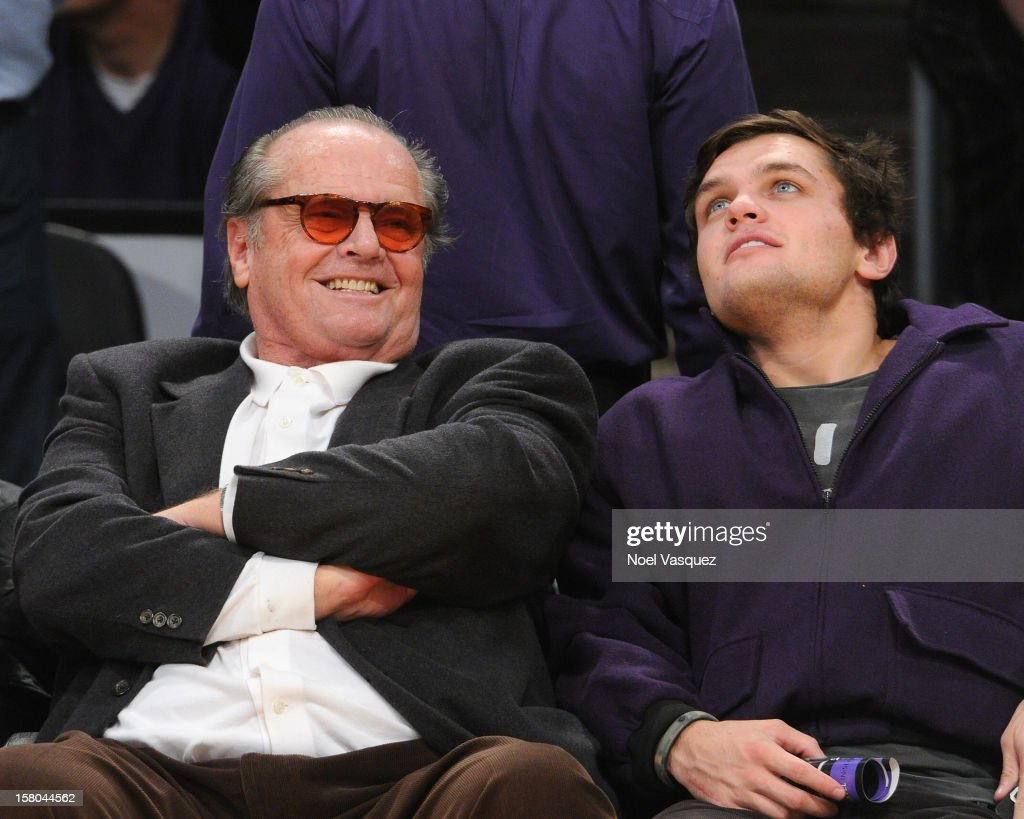 <a gi-track='captionPersonalityLinkClicked' href=/galleries/search?phrase=Jack+Nicholson&family=editorial&specificpeople=91177 ng-click='$event.stopPropagation()'>Jack Nicholson</a> and his son <a gi-track='captionPersonalityLinkClicked' href=/galleries/search?phrase=Raymond+Nicholson&family=editorial&specificpeople=171811 ng-click='$event.stopPropagation()'>Raymond Nicholson</a> attend a basketball game between the Utah Jazz and the Los Angeles Lakers at Staples Center on December 9, 2012 in Los Angeles, California.