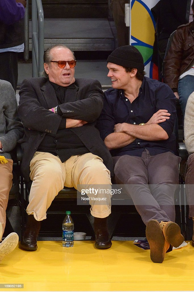 <a gi-track='captionPersonalityLinkClicked' href=/galleries/search?phrase=Jack+Nicholson&family=editorial&specificpeople=91177 ng-click='$event.stopPropagation()'>Jack Nicholson</a> (L) and his son <a gi-track='captionPersonalityLinkClicked' href=/galleries/search?phrase=Raymond+Nicholson&family=editorial&specificpeople=171811 ng-click='$event.stopPropagation()'>Raymond Nicholson</a> attend a basketball game between the Denver Nuggets and the Los Angeles Lakers at Staples Center on January 6, 2013 in Los Angeles, California.