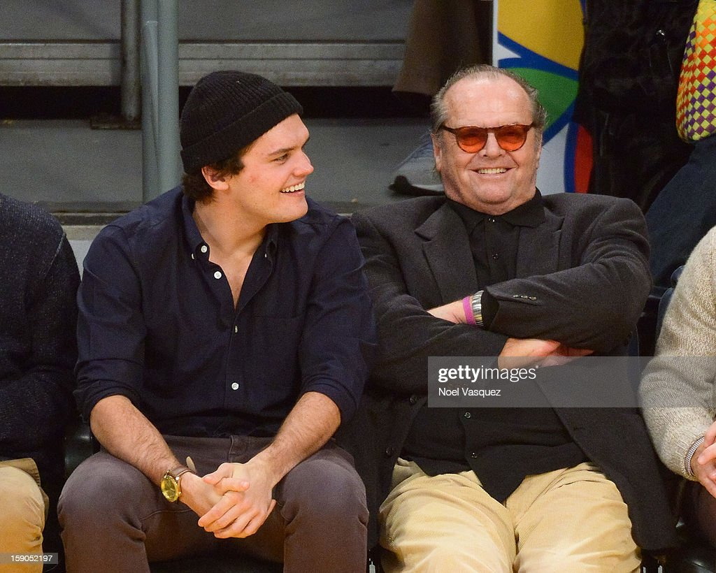 <a gi-track='captionPersonalityLinkClicked' href=/galleries/search?phrase=Jack+Nicholson&family=editorial&specificpeople=91177 ng-click='$event.stopPropagation()'>Jack Nicholson</a> (R) and his son <a gi-track='captionPersonalityLinkClicked' href=/galleries/search?phrase=Raymond+Nicholson&family=editorial&specificpeople=171811 ng-click='$event.stopPropagation()'>Raymond Nicholson</a> attend a basketball game between the Denver Nuggets and the Los Angeles Lakers at Staples Center on January 6, 2013 in Los Angeles, California.