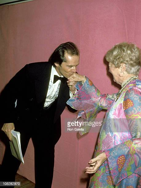 Jack Nicholson and Janet Gaynor during 50th Annual Academy Awards at Dorothy Chandler Pavillion in Los Angeles California United States