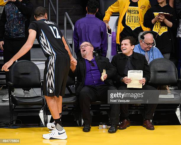 Jack Nicholson and Ray Nicholson attend a basketball game between the Minnesota Timberwolves and the Los Angeles Lakers at Staples Center on October...