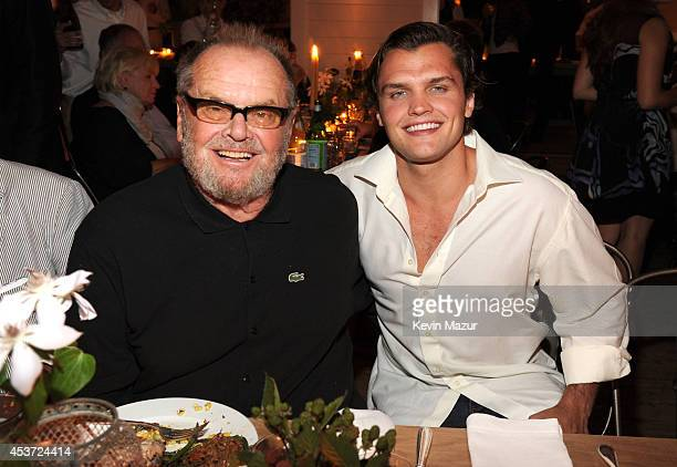 Jack Nicholson and Ray Nicholson attend Apollo in the Hamptons at The Creeks on August 16 2014 in East Hampton New York