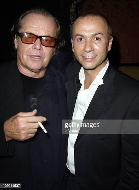 Jack Nicholson and Thierry Klemeniuk of Man Ray during 'About Schmidt' Premiere AfterParty at Man Ray in New York New York United States